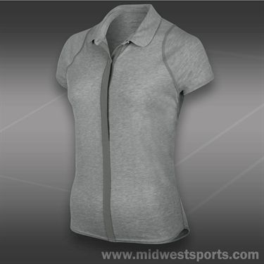 Nike Dri Fit Touch Solid Polo-Grey Heather