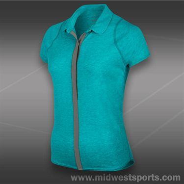 Nike Dri Fit Touch Solid Polo-Aquamarine