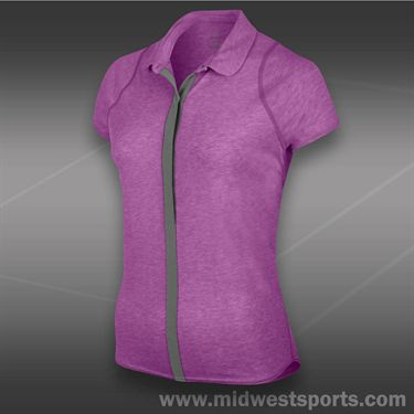 Nike Dri Fit Touch Solid Polo-Violet