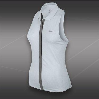 Nike Dri Fit Sleeveless Touch Polo-Birch Heather