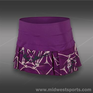 Nike Printed Pleated Woven Skirt-Bright Grape