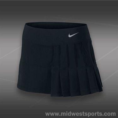 Nike Pintuck Pleated Woven Skirt-Black