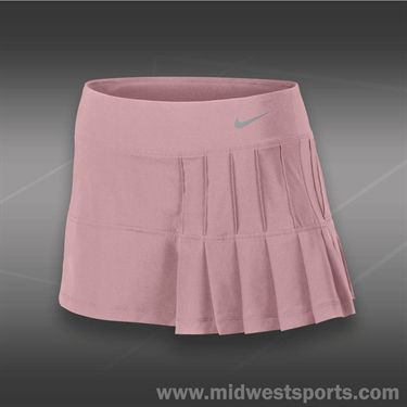 Nike Pintuck Pleated Woven Skirt-Pink Glaze