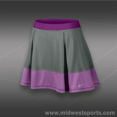 Nike Dri Fit Knit Skirt-Med Base Grey