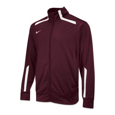 Nike Team Overtime Jacket - Dark Maroon/White