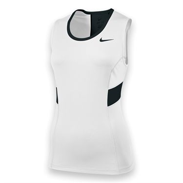 Nike Womens Team Power Tank-White