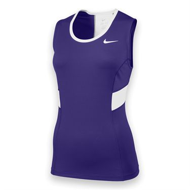 Nike Womens Team Power Tank-Purple