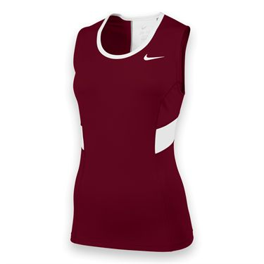 Nike Womens Team Power Tank-Scarlet