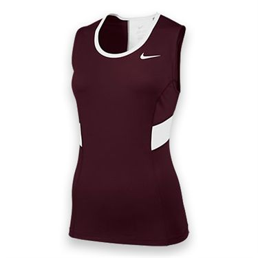 Nike Womens Team Power Tank-Dark Maroon