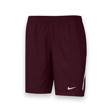 Nike Mens Team Power 9 Inch Short-Dark Maroon