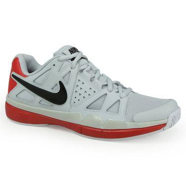 Nike Air Vapor Advantage Mens Tennis Shoe - Pure Platinum/Black/University Red