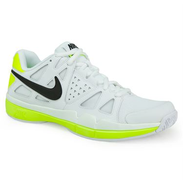 Nike Air Vapor Advantage Mens Tennis Shoe - White/Black/Volt