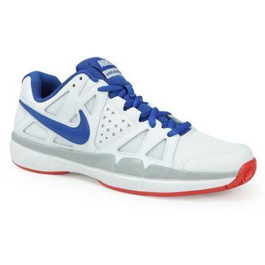 Nike Air Vapor Advantage Mens Tennis Shoe - White/Blue Jay/Wolf Grey/Action Red