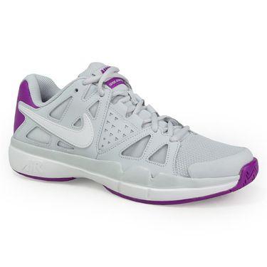 Nike Air Vapor Advantage Womens Tennis Shoe - Pure Platinum/White/Vivid Purple