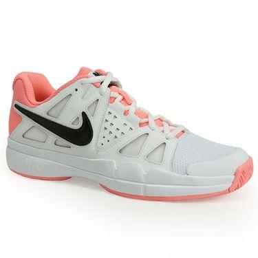 Nike Air Vapor Advantage Womens Tennis Shoe - White/Black/Lava Glow