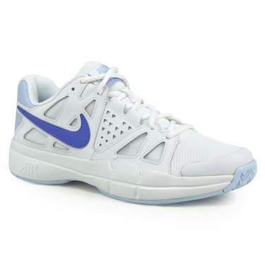 Nike Air Vapor Advantage Womens Tennis Shoe - White/Comet Blue/Ice Blue