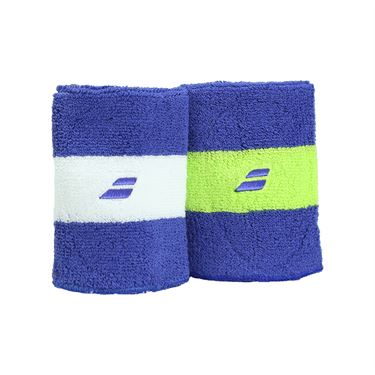 Babolat Reversible Jumbo Wristband - Blue/Yellow