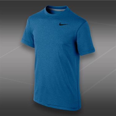Nike Boys Dri Fit Touch Crew-Military Blue