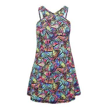 B Passionate Spectrum Crossover Dress - Spectrum Print