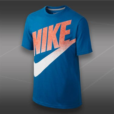 Nike Boys Meso Futura Logo T-Shirt-Military Blue
