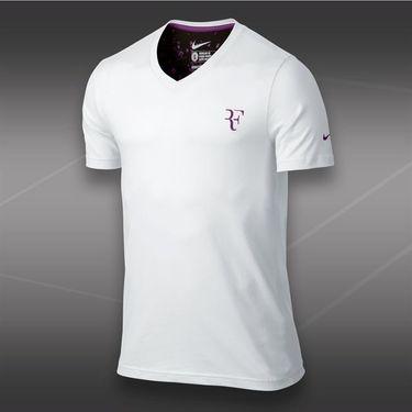Nike RF Organic Cotton V-Neck Crew- White