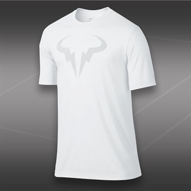 Nike Rafa Dri Blend Crew- White