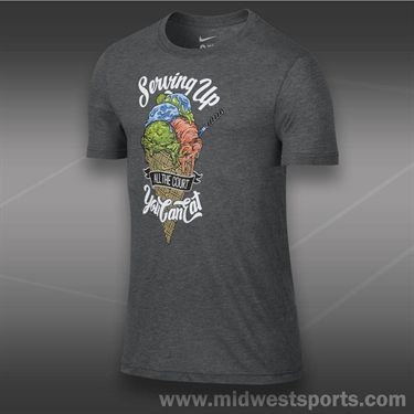 Nike Servin Up T-Shirt- Charcoal Heather