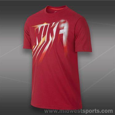Nike Dri Fit Cotton Black Eclipse T-Shirt- Gym Red
