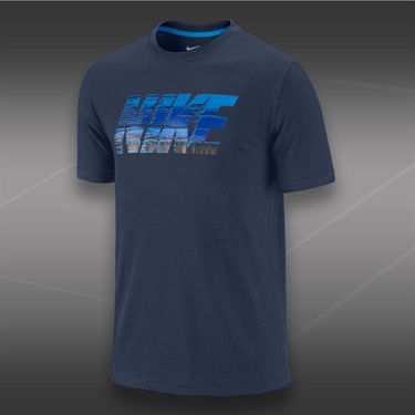 Nike Block Chrome T-shirt-Midnight Navy