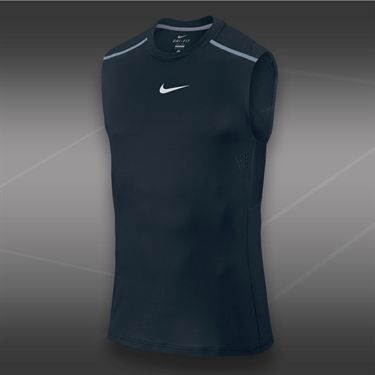 Nike Rafa Premier Sleeveless Crew-Dark Magnet Grey
