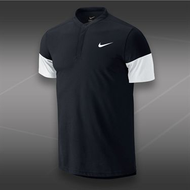 Nike Dri Fit Touch Solid Henley-Black