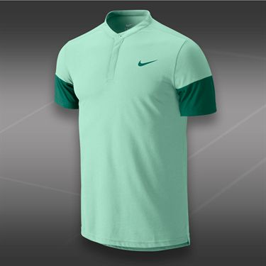 Nike Dri Fit Touch Solid Henley-Medium Mint