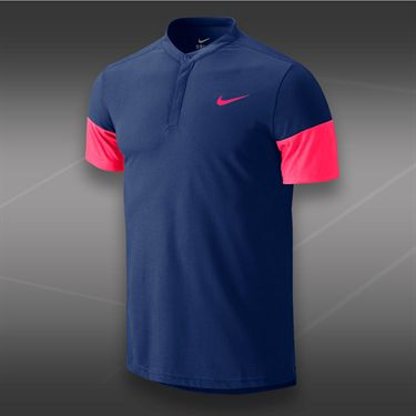 Nike Dri Fit Touch Solid Henley-Deep Royal
