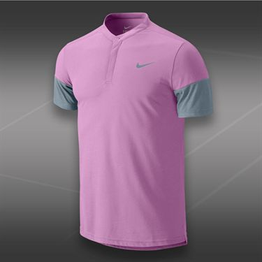 Nike Dri Fit Touch Solid Henley-Light Magenta