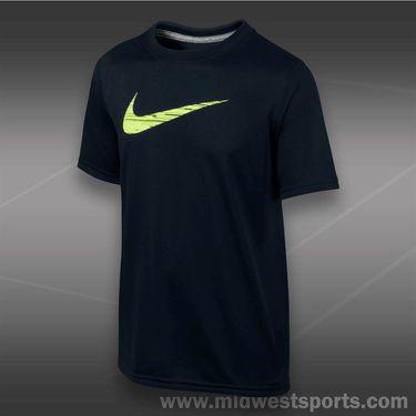 Nike Boys GFX Swoosh Fill Crew-Black