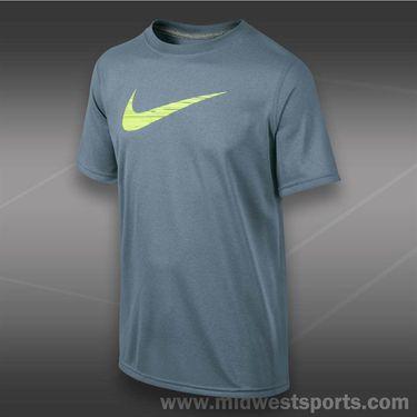 Nike Boys GFX Swoosh Fill Crew-Magnet Grey