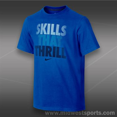 Nike Boys Skills That Thrill T-shirt-Game Royal