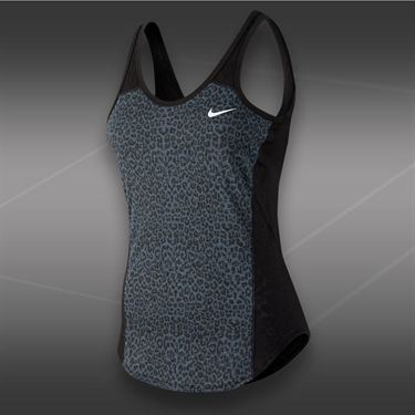 Nike Graphic Burnout Tank-Black