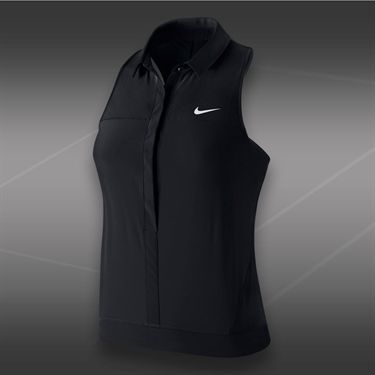 Nike Premier Sleeveless Polo-Black