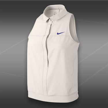 Nike Premier Sleeveless Polo-Ivory