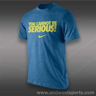 Nike You Cannot Be Serious T-Shirt- Military Blue