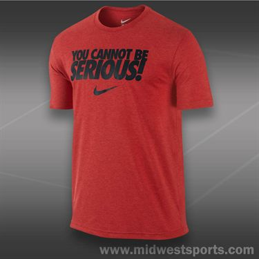 Nike You Cannot Be Serious T-Shirt- University Red
