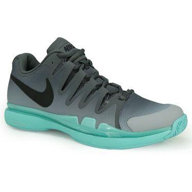 Nike Zoom Vapor 9.5 Tour Mens Tennis Shoe - Dark Grey/Black/Aurora Green/Wolf Grey