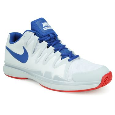 Nike Zoom Vapor 9.5 Tour Mens Tennis Shoe - White/Blue Jay/Pure Platinum/Action Red