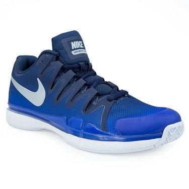 Nike Air Zoom Vapor 9.5 Tour Mens Tennis Shoe - Midnight Navy/Metallic Silver/Racer Blue