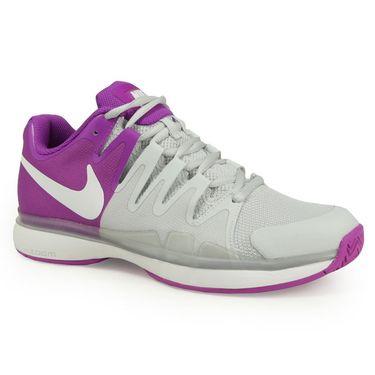Nike Zoom Vapor 9.5 Tour Womens Tennis Shoe - Pure Platinum/White/Vivid Purple