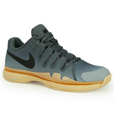 Nike Zoom Vapor 9.5 Tour Womens Tennis Shoe - Dark Grey/Black/Orange Quartz/Wolf Grey
