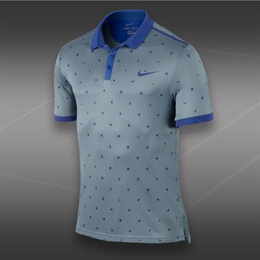Nike Advantage Graphic Polo-Magnet Grey
