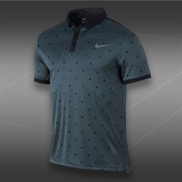Nike Advantage Graphic Polo-Dark Magnet Grey