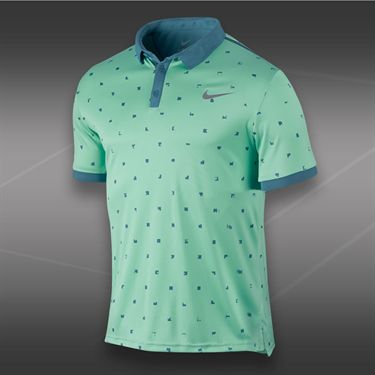 Nike Advantage Graphic Polo-Medium Mint